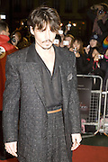 JOHNNY DEPP, European Film premiere of Sweeny Todd,  Odeon Leicester Sq. and party afterwards at the Royal Courts of Justice. 10 January 2008. -DO NOT ARCHIVE-© Copyright Photograph by Dafydd Jones. 248 Clapham Rd. London SW9 0PZ. Tel 0207 820 0771. www.dafjones.com.