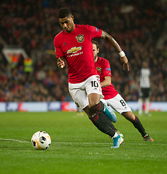 Marcus Rashford of Manchester United in action - Mandatory by-line: Jack Phillips/JMP - 07/11/2019 - FOOTBALL - Old Trafford - Manchester, England - Manchester United v Partizan - UEFA Europa League