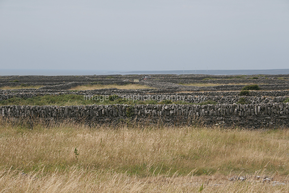 Stone walls on Inis Oirr the Aran Islands Galway Ireland