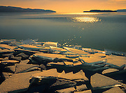 Spring ice on Lake Superior<br /> Rossport<br /> Ontario<br /> Canada