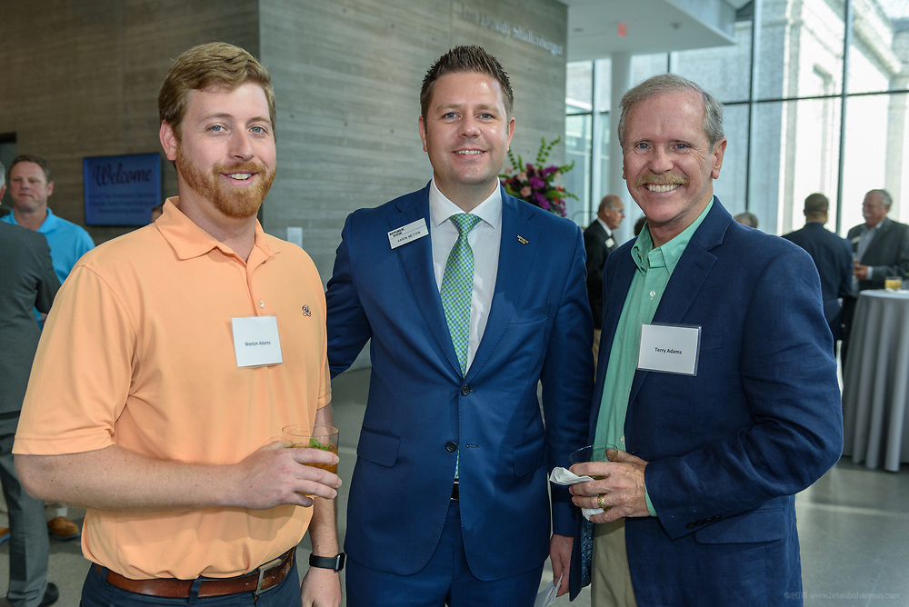 Weston Adams, Aaron Metten and Terry Adams at the 10-year anniversary celebration of Republic Bank's Private Banking and Business Banking divisions Wednesday, May 17, 2017, at the Speed Art Museum in Louisville, Ky. (Photo by Brian Bohannon)