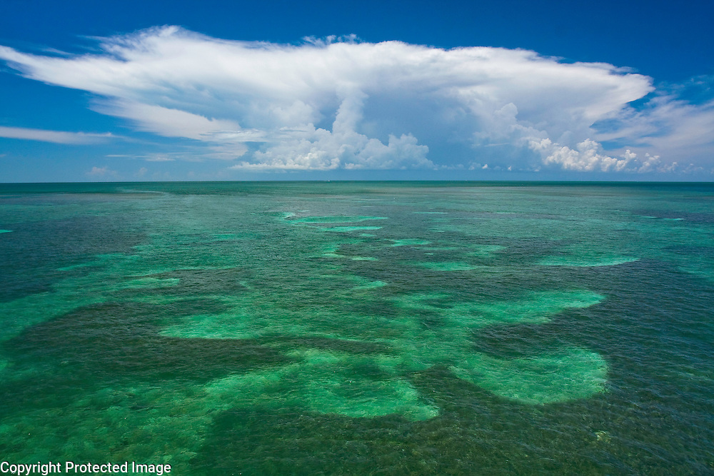 Summer thunderhead, Pigeon Key, Florida Keys