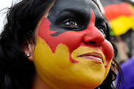 Germany vs Australia.Fan at Fan Park Hamburg,