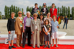 1. Notz Larissa (SUI) <br /> 2. Burucs Barna (HUN) <br /> 3. Verlooy Jos (BEL) <br /> And family Vangeenberghe<br /> European Championship Childern - Moorsele 2009<br /> © Hippo Foto - Dirk Caremans