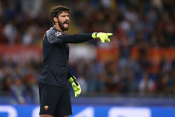 September 12, 2017 - Rome, Italy - Alisson Becker of Roma  during the UEFA Champions League Group C football match between AS Roma and Atletico Madrid on September 12, 2017 at the Olympic stadium in Rome. (Credit Image: © Matteo Ciambelli/NurPhoto via ZUMA Press)