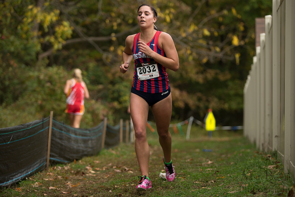 DeSales University Abby Labar - Collegiate Track Conference  Cross-Country Women's Championship at Gloucester County College in Sewell, NJ on Saturday October 19, 2013. (photo / Mat Boyle)