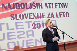 Dr. Peter Kukovica during the Slovenia's Athlete of the year award ceremony by Slovenian Athletics Federation AZS, on November 12, 2008 in Hotel Mons, Ljubljana, Slovenia.(Photo By Vid Ponikvar / Sportida.com) , on November 12, 2010.