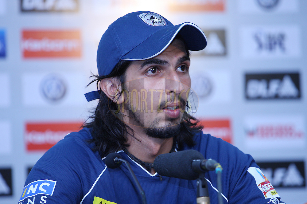 Ishant Sharma during the press conference after match 32 of the Indian Premier League ( IPL ) Season 4 between the Kochi Tuskers Kerala and the Deccan Chargers held at the Kallor Jawaharlal Nehru International Stadium in Kochi, Kerala  India on the 27th April 2011..Photo by Jacques Rossouw/BCCI/SPORTZPICS .