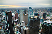 Downtown Los Angeles from OUE Skyspace Observation Deck