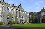 Students in the Quadrangle (Quad) at St Andrew's University, St Andrews in Scotland