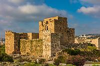 The Crusader Castle Byblos Jbeil in Lebanon Middle east