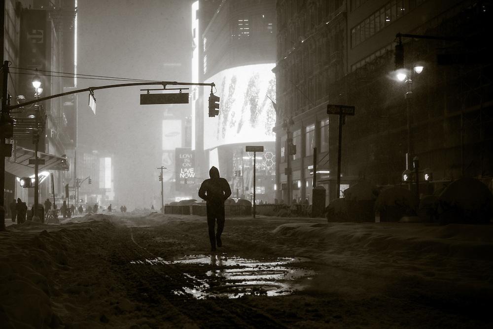 Broadway below Times Square, New York, NY, January 23 2016. Photograph ©2016 Darren Carroll