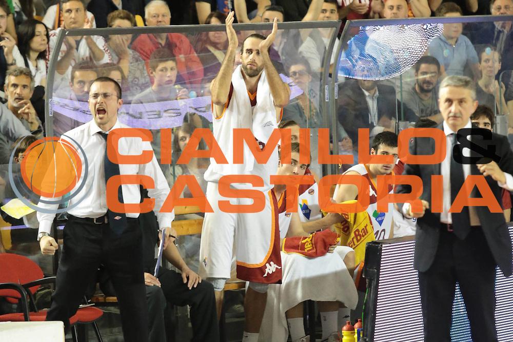 DESCRIZIONE : Roma Lega A 2012-2013 Acea Roma Lenovo Cantu playoff semifinale gara 2<br /> GIOCATORE : Massimo Maffezzoli<br /> CATEGORIA : esultanza<br /> SQUADRA : Acea Roma<br /> EVENTO : Campionato Lega A 2012-2013 playoff semifinale gara 2<br /> GARA : Acea Roma Lenovo Cantu<br /> DATA : 27/05/2013<br /> SPORT : Pallacanestro <br /> AUTORE : Agenzia Ciamillo-Castoria/M.Simoni<br /> Galleria : Lega Basket A 2012-2013  <br /> Fotonotizia : Roma Lega A 2012-2013 Acea Roma Lenovo Cantu playoff semifinale gara 2<br /> Predefinita :