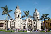 Catedral de Lima, the Roman Catholic cathedral on Plaza Mayor in Lima, Peru.