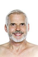 caucasian man portrait isolated studio on white background