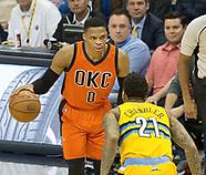 Thunder vs the Nuggets 9 Apr 2017