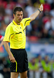 Referee Wolfgang Stark of Germany during the 2010 FIFA World Cup South Africa Group C Third Round match between Slovenia and England on June 23, 2010 at Nelson Mandela Bay Stadium, Port Elizabeth, South Africa. England defeated Slovenia 1-0 and qualified for the next round, Slovenia not. (Photo by Vid Ponikvar / Sportida)