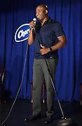 "Comedian and improv artist Wayne Brady hosts Charmin's ""Keep it Clean Comedy Show,"" Tuesday, Aug. 25, 2015, in Manhattan's lower east side featuring aspiring young comedians in celebration of National Toilet Paper Day.  (Photo by Diane Bondareff/AP Images for Charmin)"