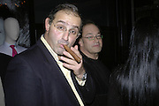 Edward Aydin and Oliver Rothschild, Drinks party to launch a new Thomas Pink shirt called The Mogul which has a pocket which houses one's cigar. Hostyed by the Spectator and Thomas Pink. Floridita. Wardour St. London. 1 November 2006. -DO NOT ARCHIVE-© Copyright Photograph by Dafydd Jones 66 Stockwell Park Rd. London SW9 0DA Tel 020 7733 0108 www.dafjones.com