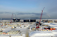 Construction at oilsands extraction plant North of Fort McMurray