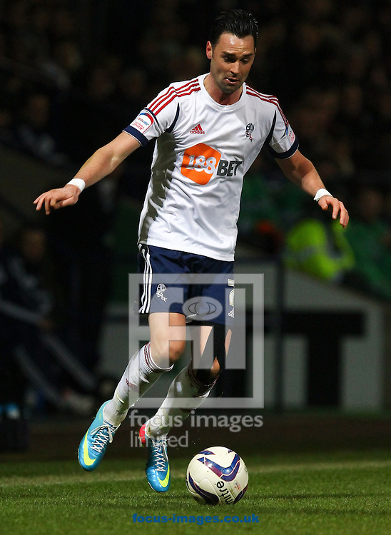 Picture by John Rainford/Focus Images Ltd +44 7506 538356.02/04/2013.Chris Eagles of Bolton Wanderers during the npower Championship match at the Reebok Stadium, Bolton.