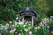 Welcome to Edgartown sign, Martha's Vineyard, Massachusetts, USA