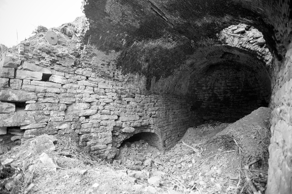 Blast furnace remains where first iron rails were made