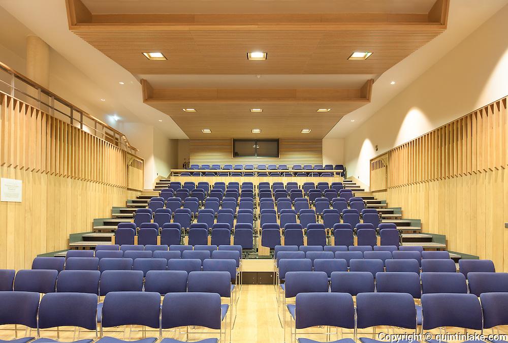 Pichette Auditorium. Pembroke College, New Build on completion March 2013. Oxford, UK