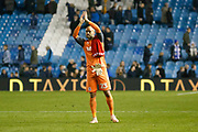 Middlesbrough goalkeeper Darren Randolph (23) applauds the fans at full time during the EFL Sky Bet Championship match between Sheffield Wednesday and Middlesbrough at Hillsborough, Sheffield, England on 19 October 2018.