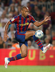 FC Barcelona's Thierry Henry during the Supercup of Spain.August 23 2009.