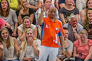 07-05-2014 : WATERPOLO : ZVL - GZC DONK : LEIDEN<br /> <br /> KNZB Scheidsrechter Gideon Reemnet<br /> Play-offs Eredivisie Dames - Seizoen 2013/2014<br /> <br /> Foto: Gertjan Kooij