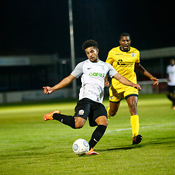 APRIL 1:  Dover Athletic against Bromley in Conference Premier at Crabble Stadium in Dover, England. Dover's forward Jamie Allen crosses the ball.  (Photo by Matt Bristow/mattbristow.net)