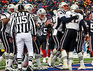 Celebration in the endzone, Tom BRady scores on a quarterback keeper, New England Patriots @ Buffalo Bills, 11 Dec 05, 1pm, Ralph Wilson Stadium, Orchard Park, NY