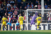 Shot over by Scunthorpe United forward Lee Novak (17)  during the EFL Sky Bet League 1 match between Scunthorpe United and AFC Wimbledon at Glanford Park, Scunthorpe, England on 30 March 2019.
