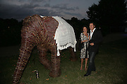 Arpad Busson and Cleo Shand, QUINTESSENTIALLY AND ELEPHANT FAMILY TRUNK SHOW PARTY. SERPENTINE PAVILION, HYDE PARK. 16 SEPTEMBER 2007. -DO NOT ARCHIVE-© Copyright Photograph by Dafydd Jones. 248 Clapham Rd. London SW9 0PZ. Tel 0207 820 0771. www.dafjones.com.