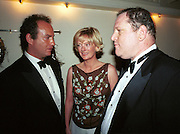 Charles Finch, Jane Procter and Harvey Weinstein. atler post Bafta awards party. Lola's. 1999. © Copyright Photograph by Dafydd Jones 66 Stockwell Park Rd. London SW9 0DA Tel 020 7733 0108 www.dafjones.com