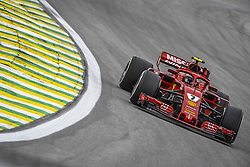 November 9, 2018 - Sao Paulo, Brazil - 07 RAIKKONEN Kimi (fin), Scuderia Ferrari SF71H, action during the 2018 Formula One World Championship, Brazil Grand Prix from November 08 to 11 in Sao Paulo, Brazil -  FIA Formula One World Championship 2018, Grand Prix of Brazil World Championship;2018;Grand Prix;Brazil  (Credit Image: © Hoch Zwei via ZUMA Wire)