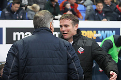 Crystal Palace manager Sam Allardyce (L) and Bolton Wanderers manager Phil Parkinson before the match - Mandatory by-line: Jack Phillips/JMP - 07/01/2017 - FOOTBALL - Macron Stadium - Bolton, England - Bolton Wanderers v Crystal Palace - FA Cup Third Round