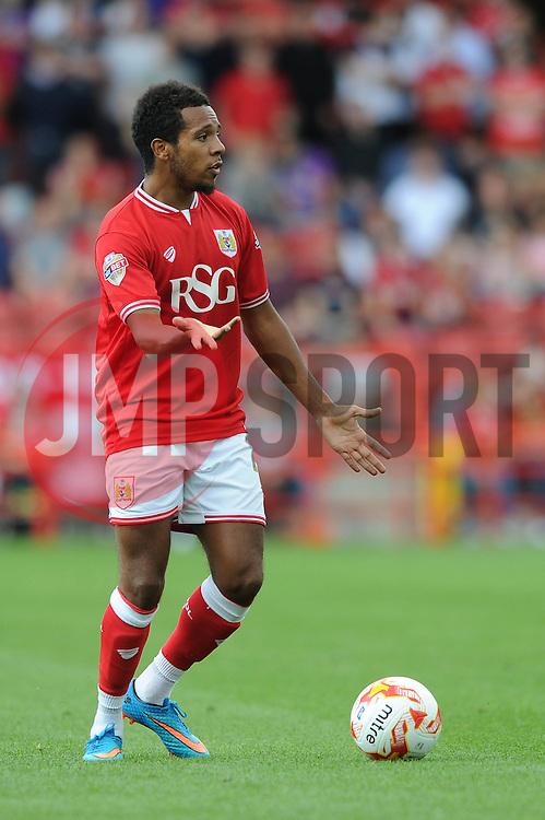 Korey Smith of Bristol City - Mandatory byline: Dougie Allward/JMP - 07966386802 - 15/08/2015 - FOOTBALL - Ashton Gate -Bristol,England - Bristol City v Brentford - Sky Bet Championship