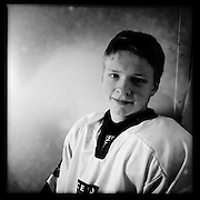 Ice Men Cometh… Olafur Olafsson, 17, Iceland..An iPhone portrait series on young men competing in the 2012 IIHF Ice Hockey World Championships Division 3. The tournament  was contested by countries New Zealand, Iceland, China, Bulgaria and Turkey at Dunedin Ice Stadium. Dunedin, Otago, New Zealand. 17th January 2012. Photo Tim Clayton