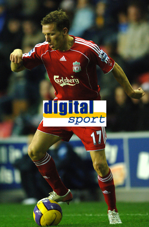 Photo: Paul Greenwood.<br />Wigan Athletic v Liverpool. The Barclays Premiership. 02/12/2006. Liverpool striker Craig Bellamy scored two goals on his return to the side.