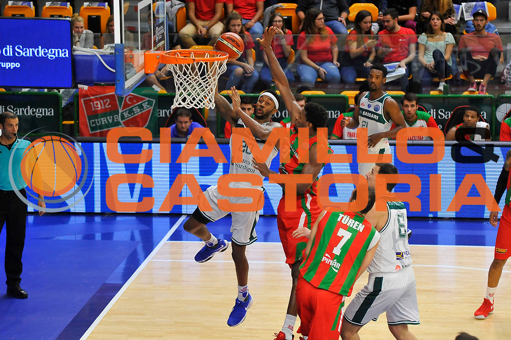 Randolph Levi<br /> Banco di Sardegna Dinamo Sassari - Pinar Karsiyaka<br /> Basketball Champios League 2016/2017<br /> Sassari 11/10/2017<br /> Foto Ciamillo-Castoria