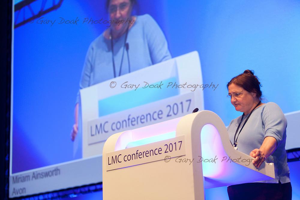 Miriam Ainsworth<br /> BMA LMC's Conference<br /> EICC, Edinburgh<br /> <br /> 18th May 2017<br /> <br /> Picture by Gary Doak