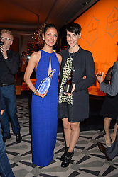 Left to right, CASSANDRA STAVROU winner of the 2016 Veuve Clicquot New Generation Award and SARAH WOOD winner of the 2016 Veuve Clicquot Business Women Award at the Veuve Clicquot Business Woman Award 2016 held at Claridge's Hotel, Brook Street, London on 9th May 2016.