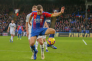 Crystal Palace midfielder James McArthur (18) on the ball during the Premier League match between Crystal Palace and Burnley at Selhurst Park, London, England on 1 December 2018.
