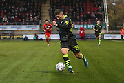 Forest Green Rovers Jack Aitchison(29), on loan from Celtic runs forward during the EFL Sky Bet League 2 match between Leyton Orient and Forest Green Rovers at the Matchroom Stadium, London, England on 23 November 2019.
