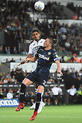 Leeds United defender Luke Ayling (2) battles for the ball during the EFL Sky Bet Championship match between Swansea City and Leeds United at the Liberty Stadium, Swansea, Wales on 21 August 2018.
