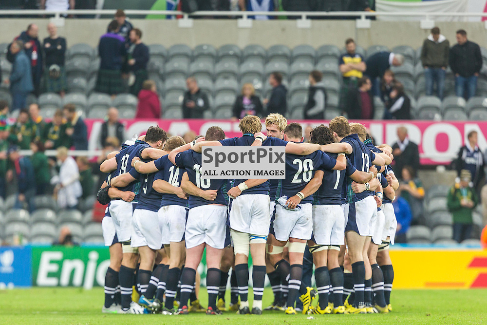 Players after the Rugby World Cup match between Scotland and South Africa (c) ROSS EAGLESHAM | Sportpix.co.uk