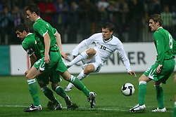 Zlatko Dedic (14) at the fourth round qualification game of 2010 FIFA WORLD CUP SOUTH AFRICA in Group 3 between Slovenia and Northern Ireland at Stadion Ljudski vrt, on October 11, 2008, in Maribor, Slovenia.  (Photo by Vid Ponikvar / Sportal Images)