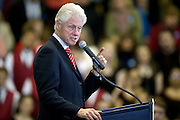 Former President Bill Clinton speaks at a rally at Scranton High School on Thursday, April 7, 2016.<br /> Christopher Dolan / Staff Photographer